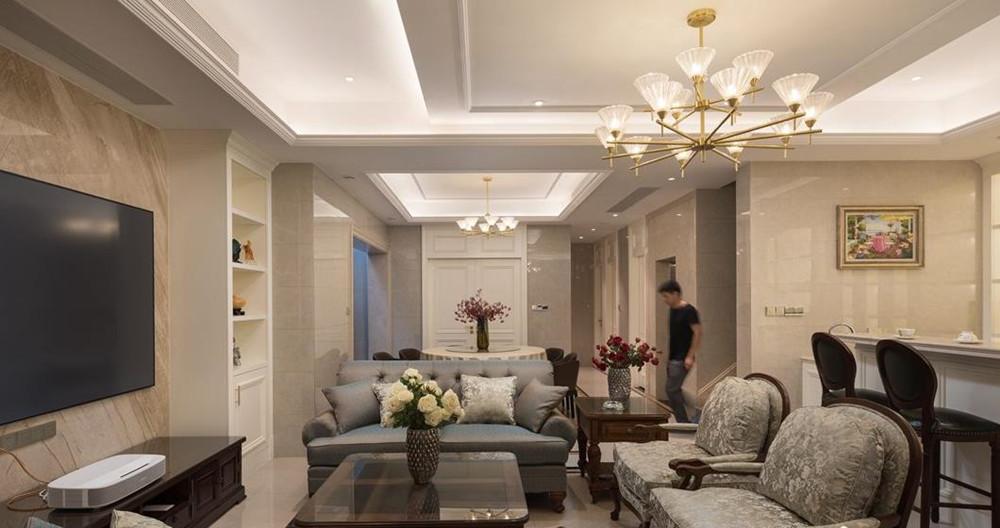 美式风格-万象九里-别墅-408平-装修实景效果图