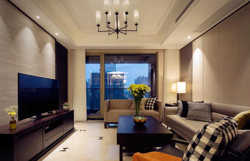 现代简约风格-玉兰花园-三室两厅-143平-装修实景效果图