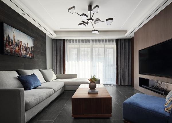 现代风格-洛社橙园-三室两厅-143平-装修效果实景图