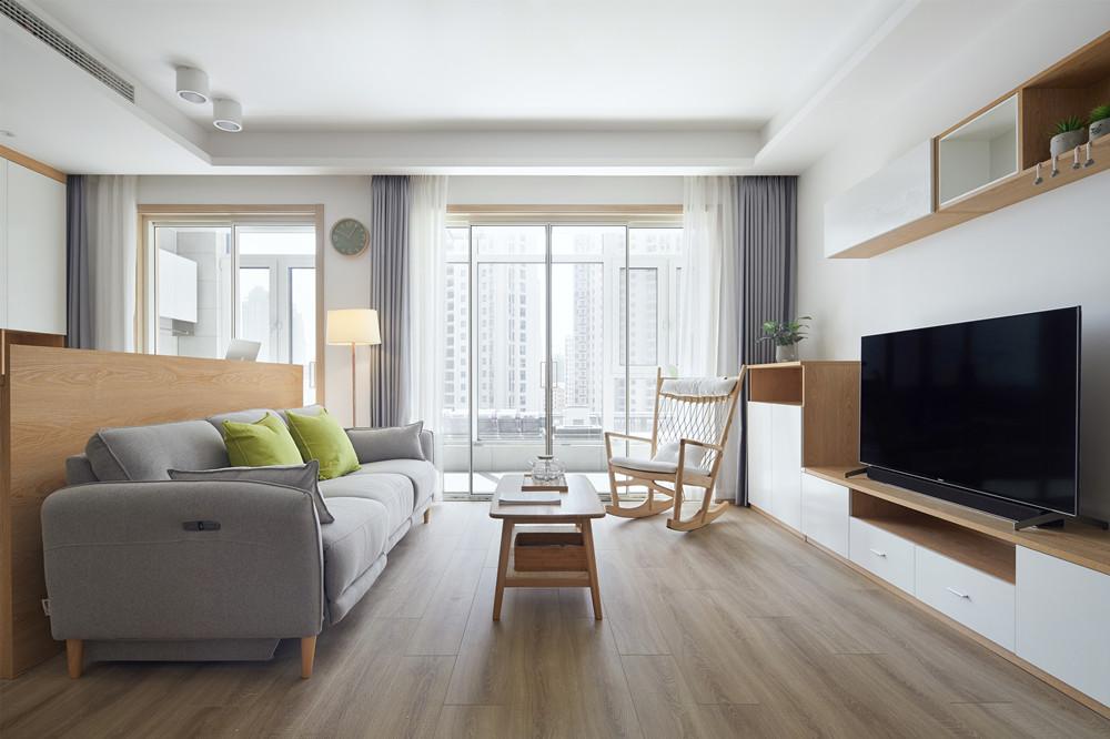 日式风格-富力运河十号-三室两厅-121平-装修实景效果图
