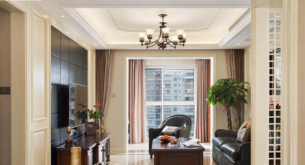 简约美式风格-中城誉品-三室两厅-115平-装修实景效果图