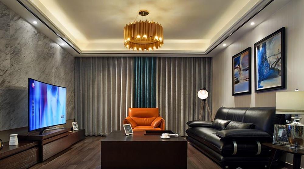 现代风格-中建溪岸观邸-三室两厅-140平-装修实景效果图