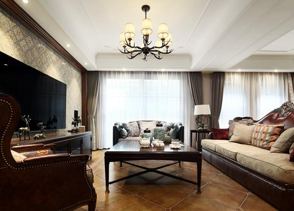 美式风格-绿地波士顿-别墅-310平-装修效果实景图