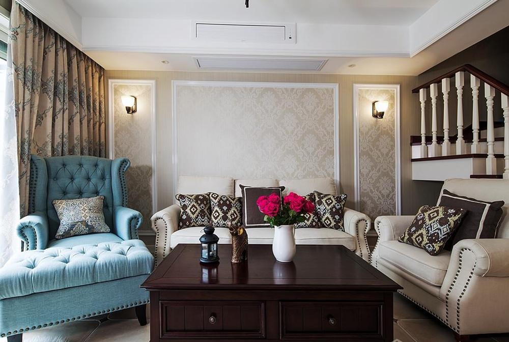 简美风格-万科魅力-四室两厅-210平-装修实景效果图