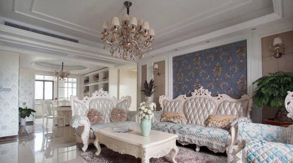 简欧风格-尚东雅园-四室两厅-185平-装修实景效果图