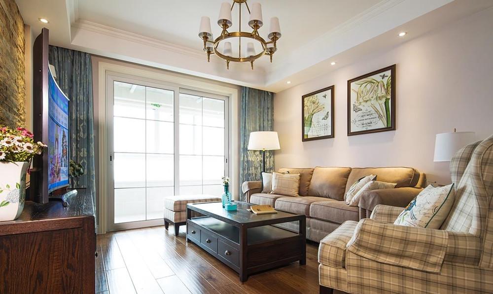美式风格-东宝康园-三室两厅-124平-装修效果实景图
