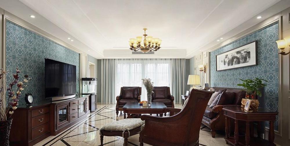 简美风格-家乐府-四室两厅-180平-装修效果实景图