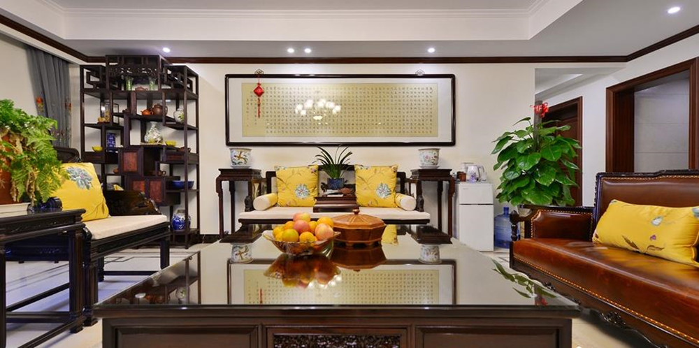 中式风格-家乐府-四室两厅-190平-装修实景效果图