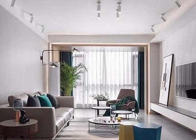 现代北欧-香缇半岛-四室两厅-143平-装修实景效果图