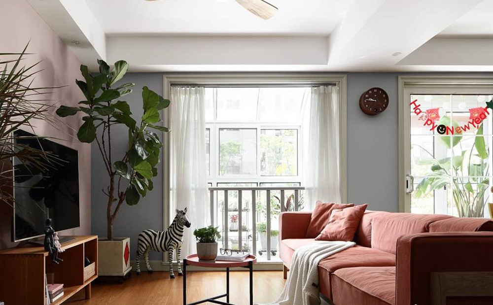 北欧风格-金世名园-两室两厅-110平-装修实景效果图