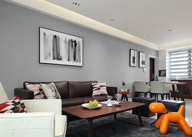 北欧风格-长江国际泓园-三室两厅-118平-装修效果实景图