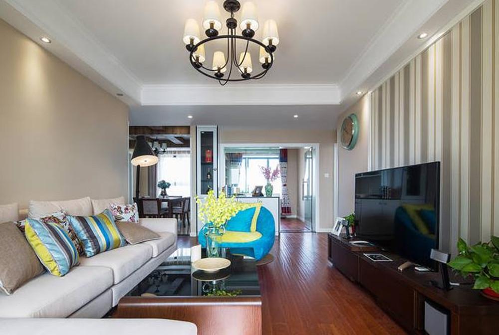 美式风格-东宝康园-三室两厅-106平-装修效果实景图