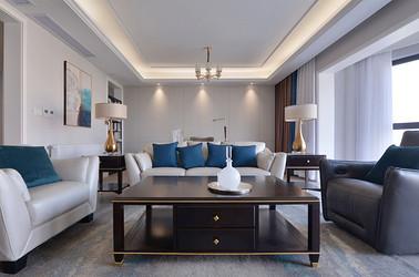 现代轻奢风格-绿地观澜湾-四室两厅-256平-装修实景效果图
