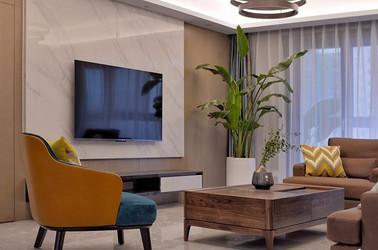 现代简约-西水东-四室两厅-180平-装修实景效果图