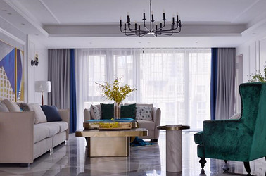 现代轻奢-茂业天地观园-四室两厅-306平-装修效果实景图