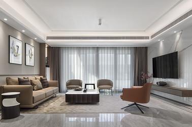 现代东方-路劲梅都府-四室两厅-143平-装修实景效果图