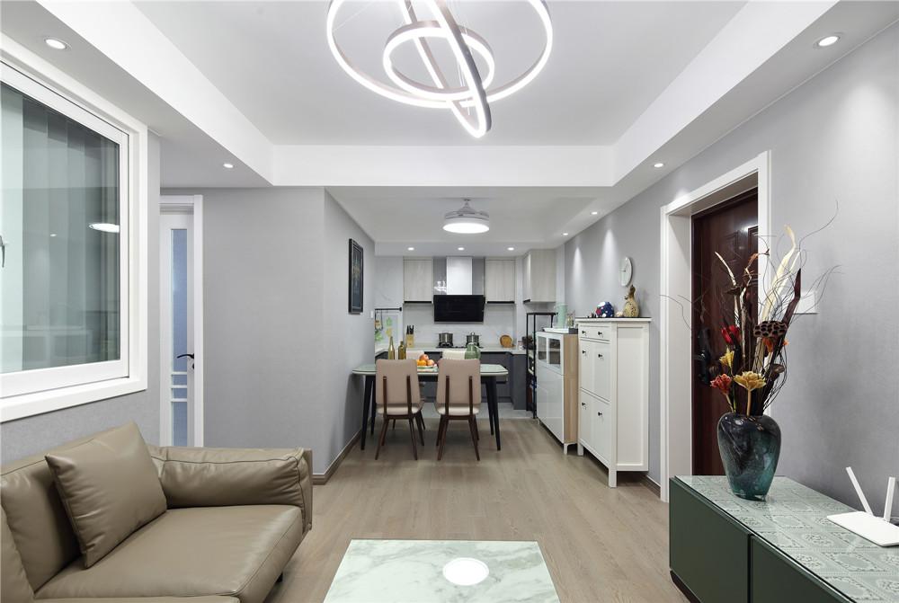 现代风格-大丁佳苑-一室一厅-60平-装修实景效果图