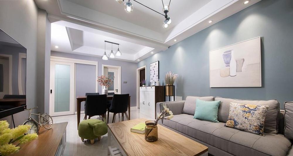 现代简约风格-福润轩-两室两厅-89平米-装修实景效果图