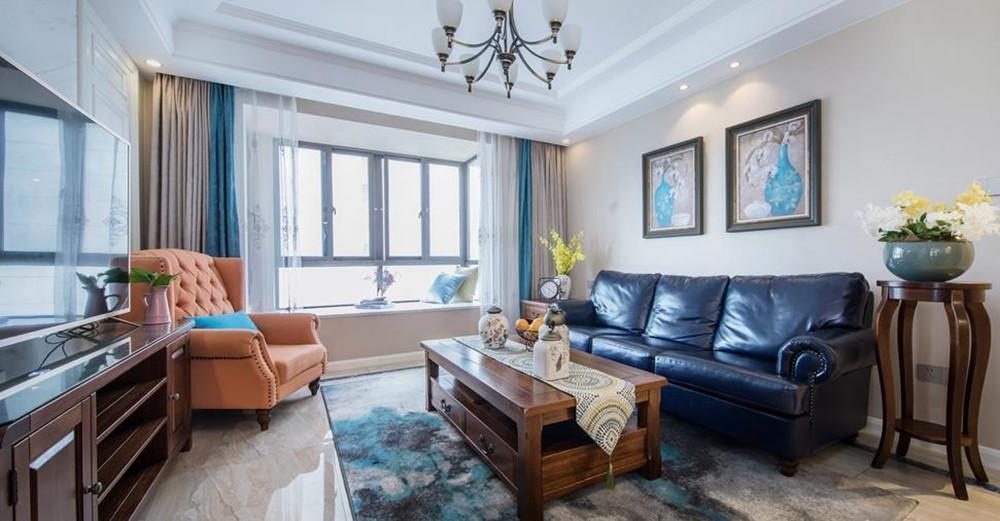 现代美式风格-融侨观邸-三室两厅-139平米-装修实景效果图