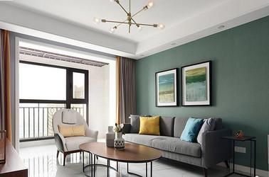 北欧风格-金科米兰-两室两厅-89平米-装修实景效果图