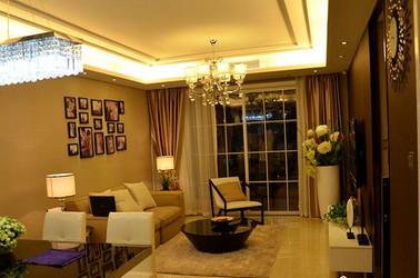 现代简约-诺卡花园-两室两厅-89平-装修实景效果图