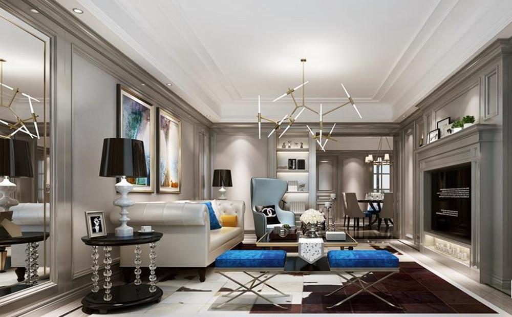 欧式古典-春江花园-三室两厅-145平-装修效果图