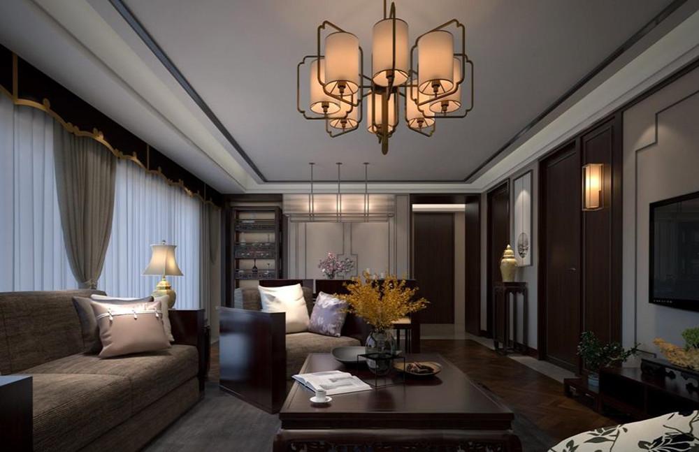 新中式-lols10外围平台珑玺-三室两厅-148平-装修效果图