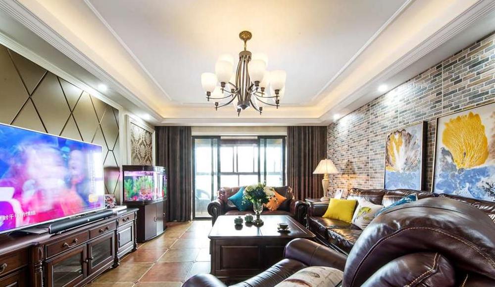 美式风格-世茂首府-四室两厅-220平米-装修实景效果图