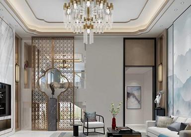 现代中式-银河湾-联排别墅-280平-装修效果图