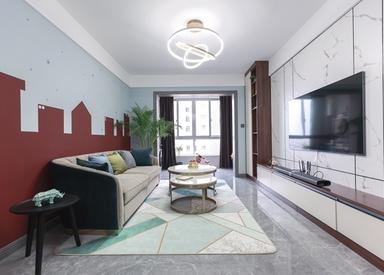 现代简约-朗诗太湖绿郡-三室两厅-103平-实景效果图