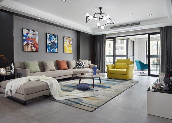 现代风格-中央御景-三室两厅-180平-装修实景效果图