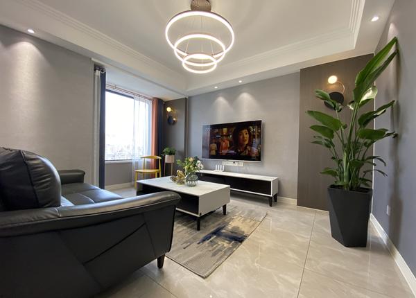 现代风格-百乐和园-三室两厅-123平-装修实景效果图
