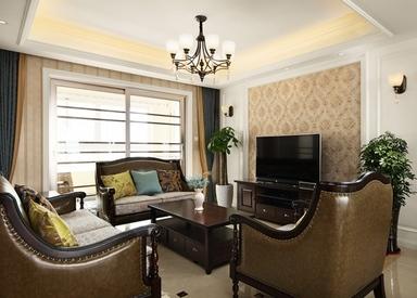小美风格-国联乐园-三室两厅-127平-装修效果实景图