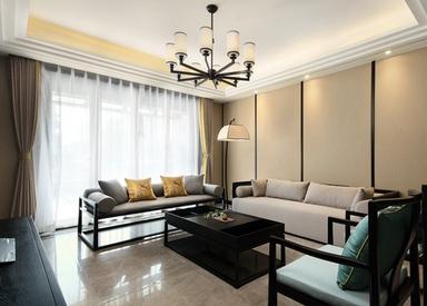 新中式风格-世界城-跃层复式-290平-装修效果实景图