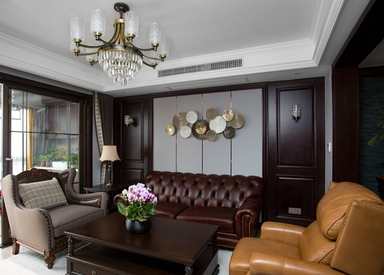 美式轻奢-西水东-三室两厅-145平-装修实景效果图