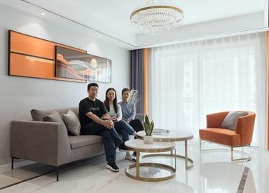 现代轻奢-协信未来城-三室两厅-118平米-装修实景效果图