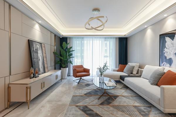 现代轻奢-绿地天空树-四室两厅-145平-装修实景效果图