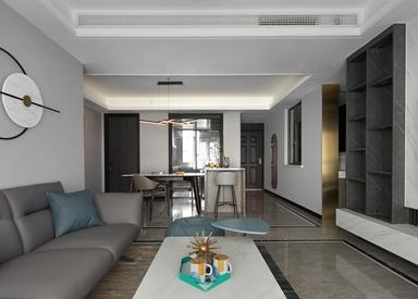 现代简约-绿地天空树-三室两厅-132平-装修实景效果图