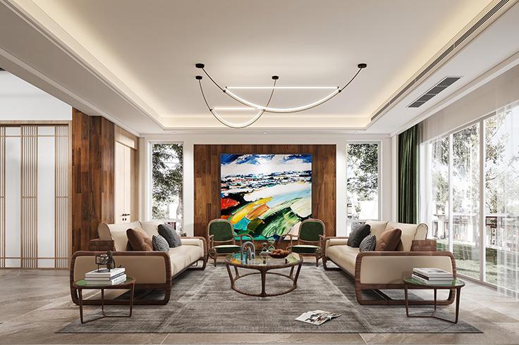 现代风格-印象剑桥-独栋别墅-600平-装修效果图