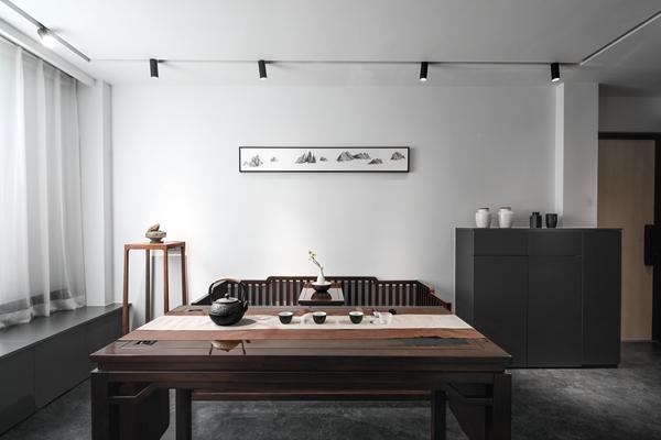 现代中式-清扬新村-两室一厅-75平-装修实景效果图