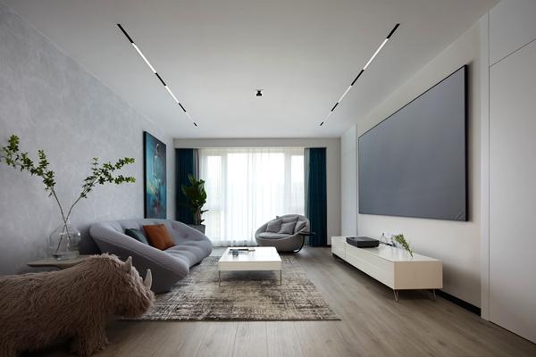 现代极简-玉兰花园-四室两厅-180平-装修实景效果图