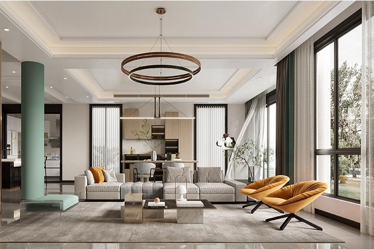 现代轻奢-太湖威尼斯-独栋别墅-190平-装修效果图