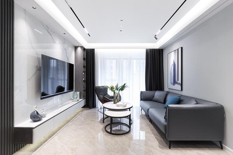现代简约-保利时光印象-三室两厅-96平-装修实景效果图
