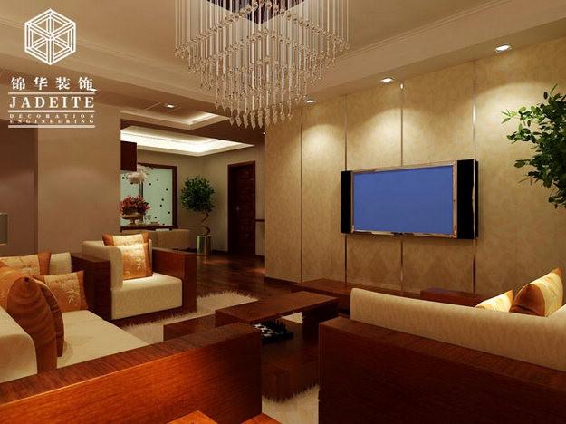 御景湾装修-三室两厅-新中式