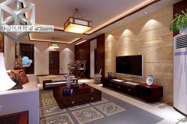滨湖三期装修-三室两厅-新中式