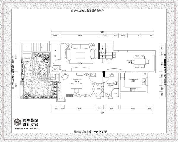 国信上城31 1 101装修 大户型 简欧风格 徐州锦华装饰 高清图片