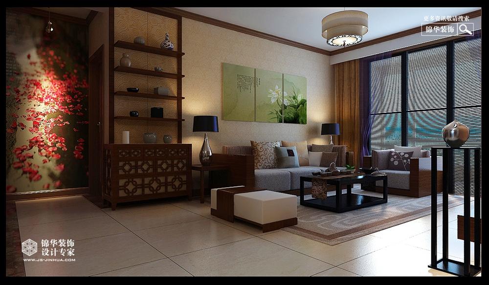 新中式风格-龙湖国际-三室两厅-146㎡-装修实景效果图