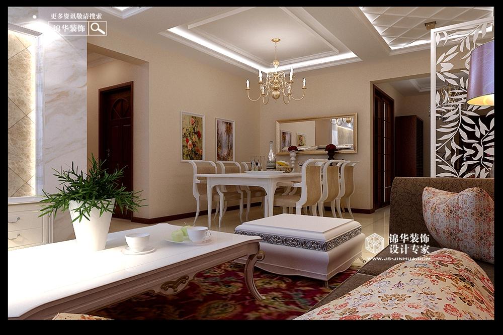 欧式风格-中凯城市之光-三室两厅-140㎡-装修实景效果图