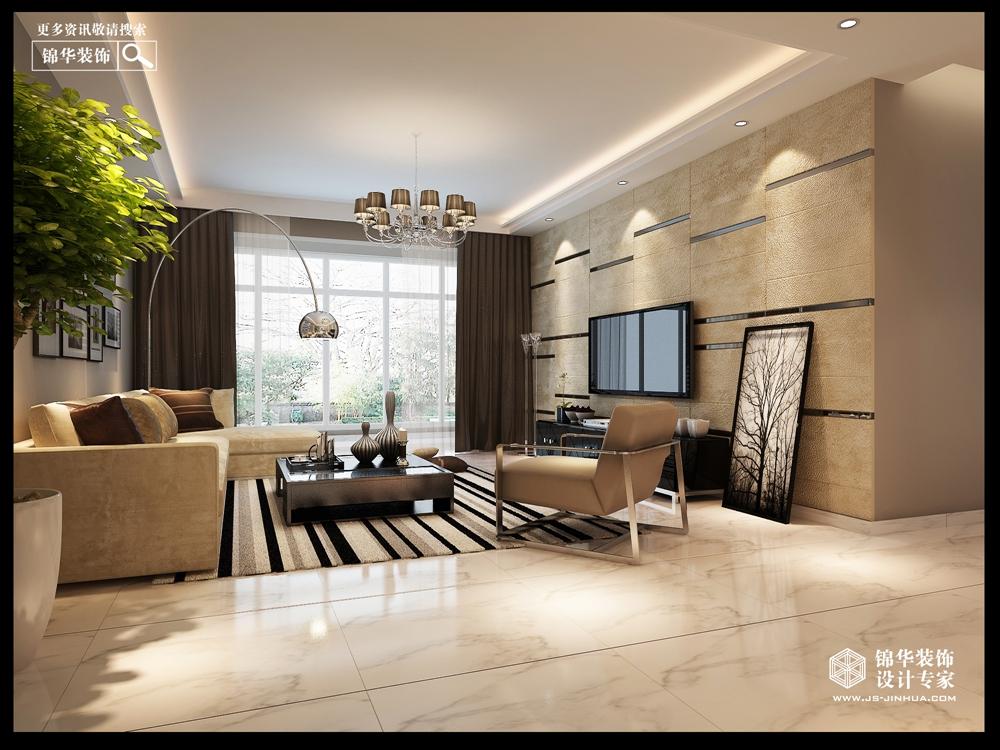 现代简约风格-御龙山水-三室两厅-160㎡-装修实景效果图