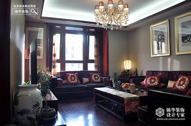 风尚米兰-新中式-140㎡-三室两厅